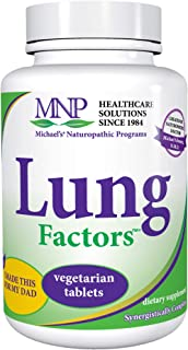 Michael's Naturopathic Programs Lung Factors - 60 Vegetarian Tablets - Breathing & Respiratory Support Supplement, Promote...