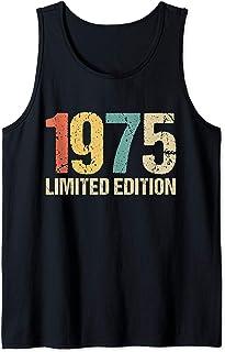 45 Años Chico Chica Regalos Aniversario Decoración, 45 Años Cumpleaños Hombre Mujer Regalo Divertido 1975 Camiseta sin Mangas