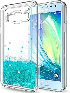 e515504eff2 LeY Compatible con Funda Samsung Galaxy A3 2015 Silicona Purpurina Carcasa  con HD Protectores de Pantalla
