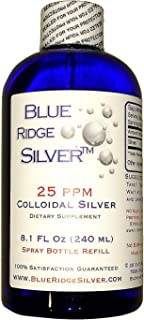 Blue Ridge Silver 25 ppm 8 oz Colloidal Silver