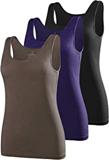 Amvelop Basic Womens Tank Tops 3 Pack