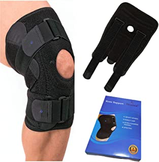 Knee Brace for Meniscus Tear-Open Patella Stabilizing Knee Brace Supports & Relieves ACL,LCL,MCL,Arthritis Pain,Tendonitis,Torn Meniscus for Men & Women Non Slip Adjustable Best for Running & Sports
