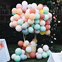 Pastel Balloon Garland Kit 12 Inch 18 Inch Assorted Color(105 Pcs), Zohee Macaron Balloon Arch Kit Bulk Unicorn Decorations for Parties Birthday Wedding Christmas,Thick Latex