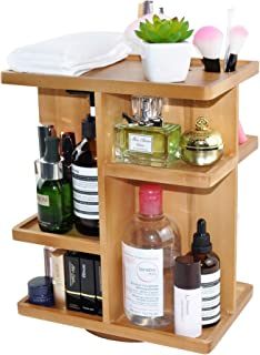 Spiretro Rotating Cosmetic Modular Organizer, Multi-Function Storage, 360 degree Carousel for Makeup, Toiletries, Vanity, ...