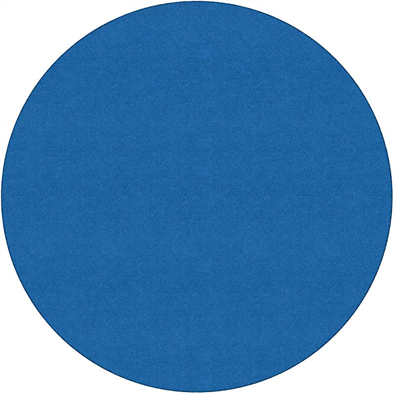 Flagship Carpet 6 Kids Nylon Ameristrong School Classroom Rug Royal Blue Round