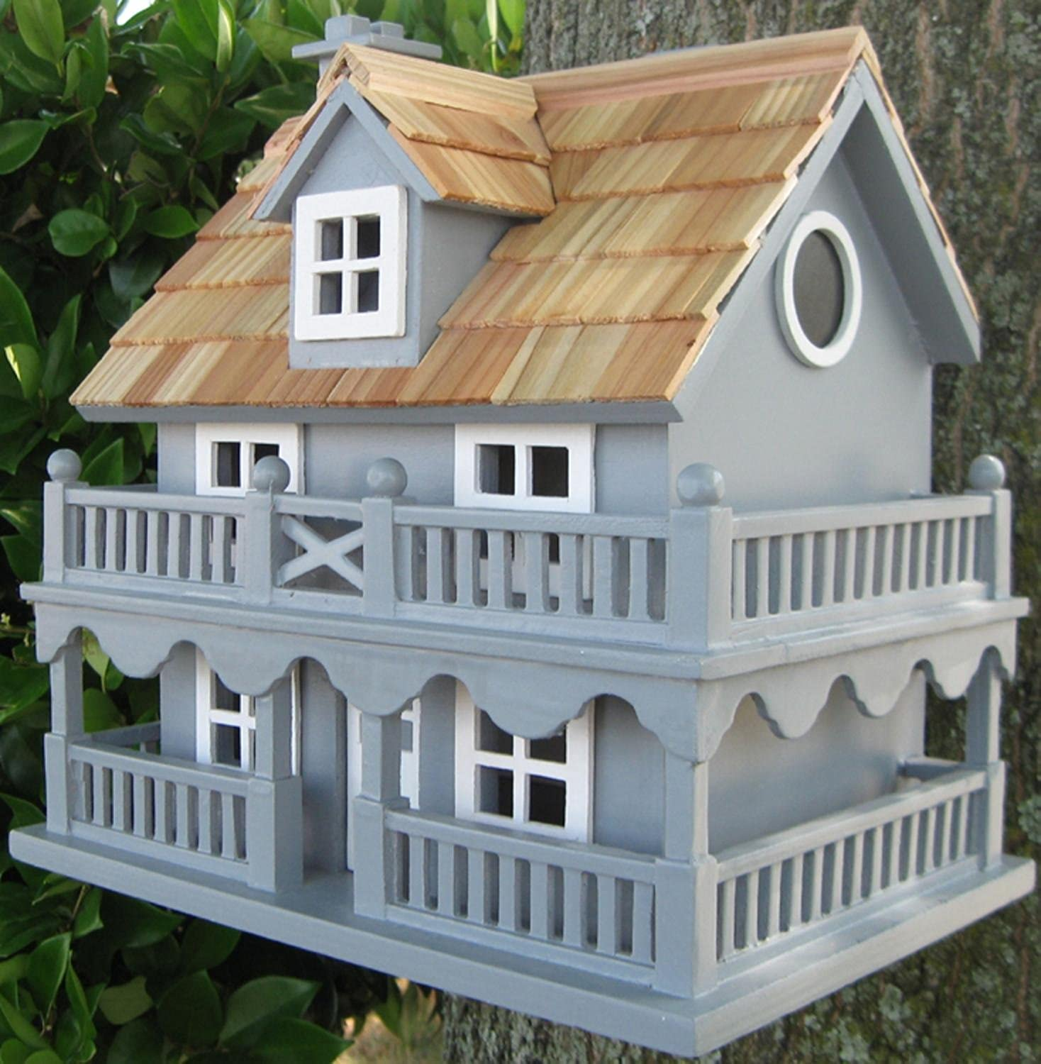 CC Home Furnishings 10.75  Fully Functional bluee New England Cottage Outdoor Garden Birdhouse