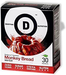 Devotion Nutrition Flex Flavors Stevia Instant Flavoring, Monkey Bread, Zero Calories, Sugar Free, Gluten Free, Stevia Sweetened, 30 Count
