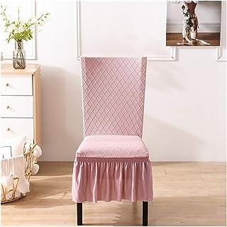 غطاء كرسي قابل للتمدد تنورة كاملة من قماش إسباندكس جاكار مرن من أجل حفل زفاف المنزل فندق (اللون: وردي، المقاس: مقاس عالمي)