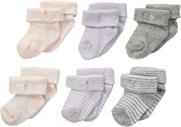 Ribbed Striped Turncuff Socks 6-Pack (Infant)