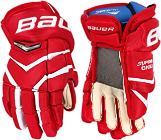 Supreme ONE.6 Hockey Gloves Junior - MTO - White/Red - 10