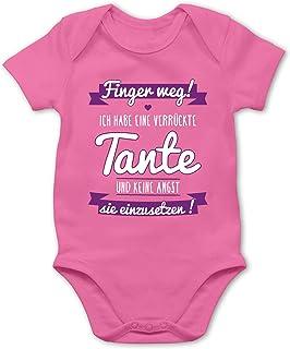 Shirtracer Ich habe eine verrückte Tante Blau - Baby Body Kurzarm für Jungen und Mädchen