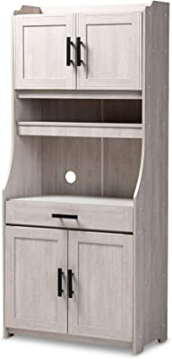 Baxton Studio 152-9175-AMZ Kitchen Storages One Size White