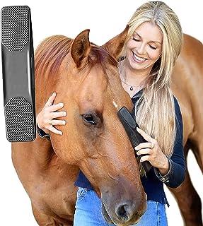 Gentle Groomer - Original for Horses Dogs 6-in-1 Shedding Grooming Massage,Horses Neat Pet Grooming Brush, Strip Hair Gent...