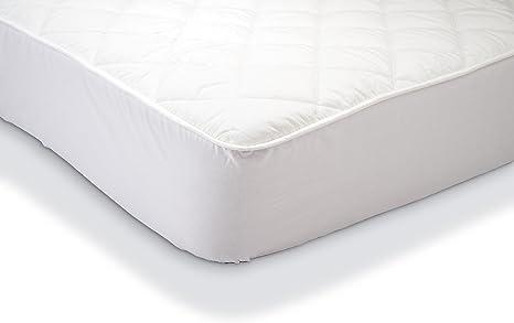 Amazon Basics - Protector de colchón acolchado impermeable 90 ...