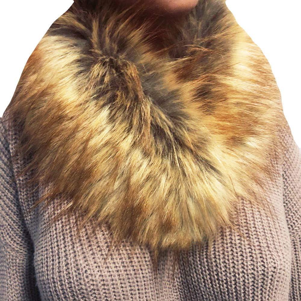Ultra-Cheap Deals YOMXL Women's Fashion San Francisco Mall Imitation Wool Fur Collar Scarf Grass Faux