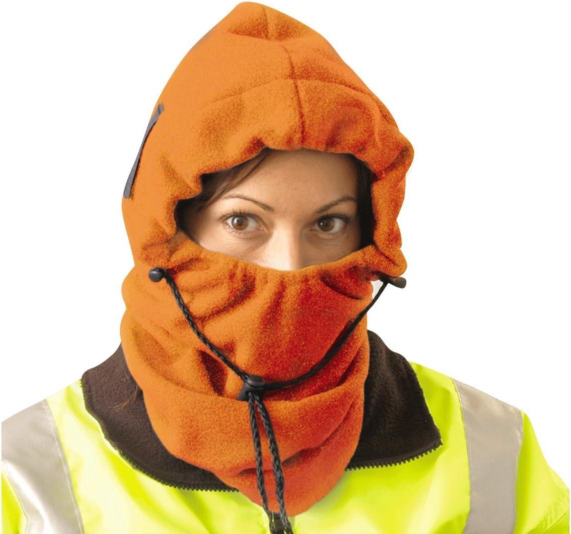 Miami Mall 3 in 1 Fleece Sales Balaclava - Hi-Viz Face Head Orange Warmer