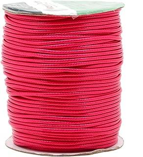 Mandala Crafts Macrame Supplies Extra Long Korean Wax Polyester Beading Craft Cord Thread (2mm (89 Yards Long), Hot Pink)