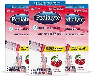 Pedialyte Electrolyte Powder, Cherry, Electrolyte Hydration Drink, 0.6 oz Powder Packs (18 Count)