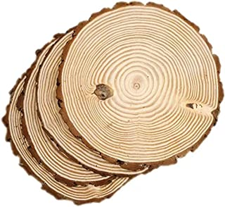 4 Pack Round Rustic Woods Slices, 10