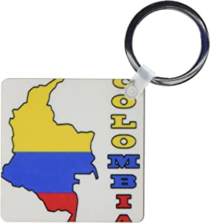 kc_51747 777images Flags and Maps - South America - Colombian flag in the map and letters of Colombia - Key Chains