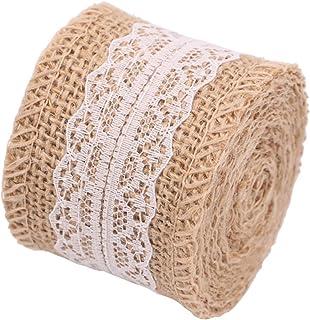 Cinta de arpillera/ /rosenice cinta de encaje yute de arpillera r/ústico rollo de tela para manualidades
