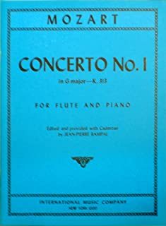 Mozart Concerto No.1 in G Major for Flute and Piano, K.313