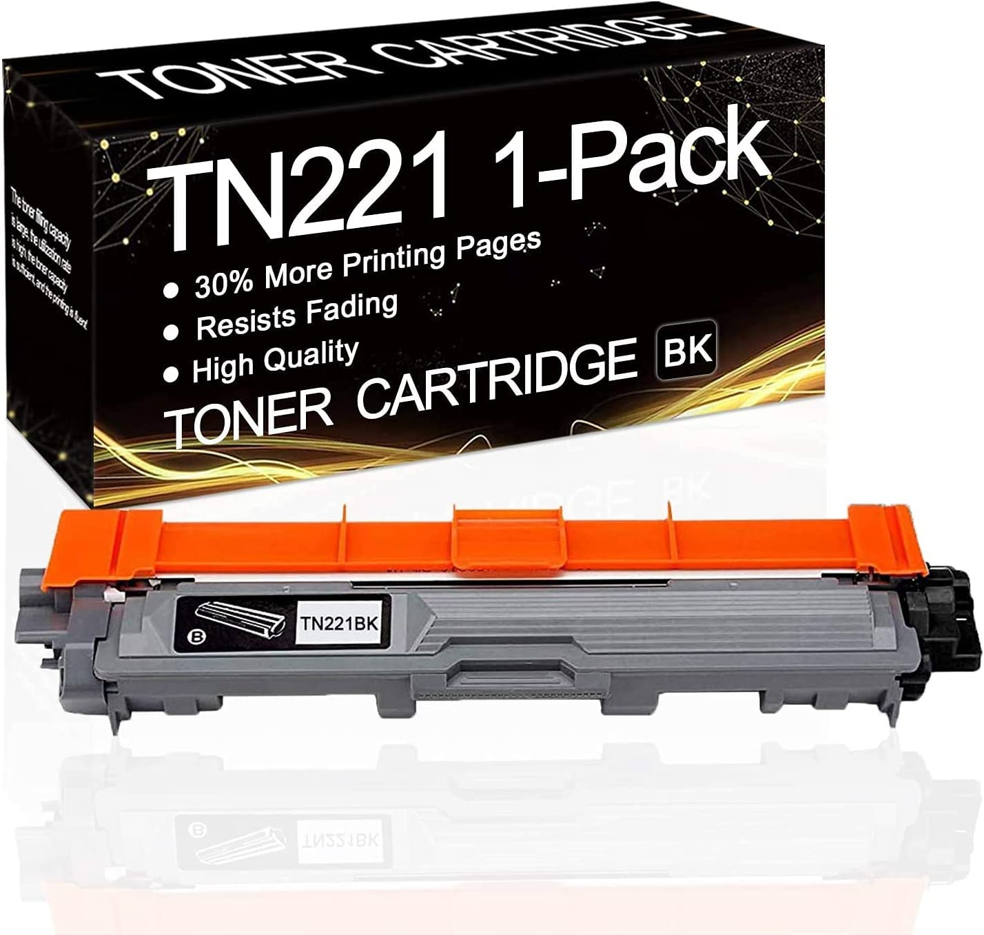 1 Pack TN-221 Special price for a limited time Dallas Mall Black TN221BK Toner Cartridge Compatible Replaceme