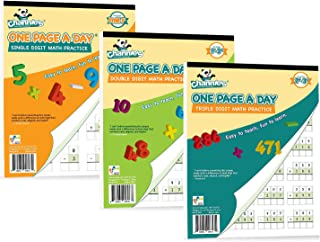 """Channie's One Page A Day Single, Double, Triple Digit Math Practice Worksheets 3 Pack! Grades 2-4th Size 8.5"""" x 11"""""""