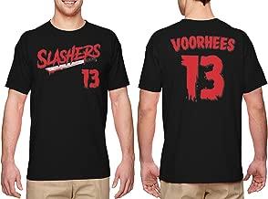 HAASE UNLIMITED Slashers Voorhees 13 Jersey - Horror Movie Men's T-Shirt
