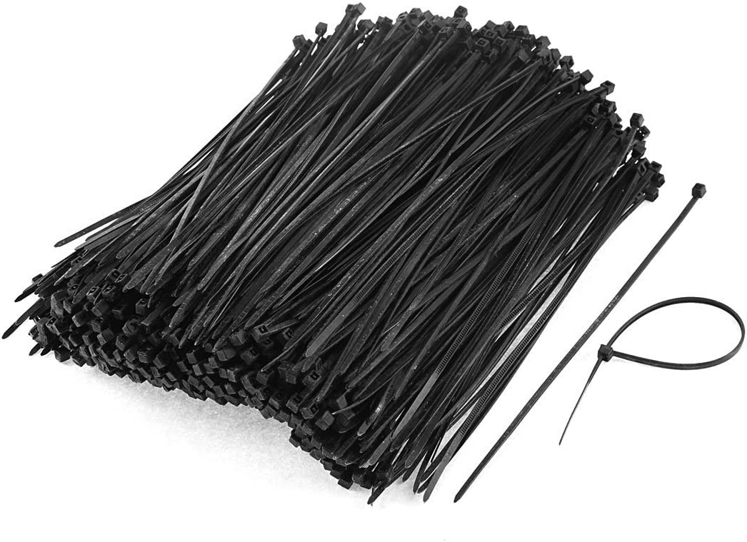 Chicago Mall uxcell 1000pcs 3mm x New product type 150mm Zip Electric Cable Nylon Self-Locking