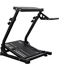 $95 » Dshot Racing Wheel Stand (Updated Version) Height and Tilt Adjustable Steering Wheel Stand for Logitech G25, G27, G29, G92...