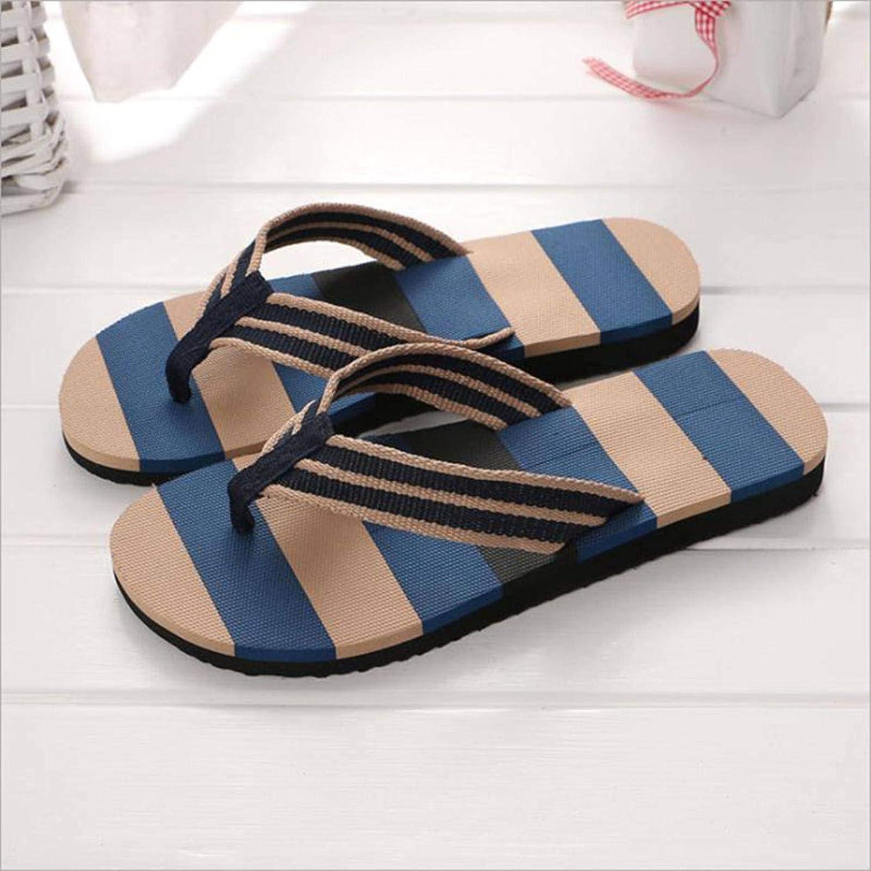 N-brand Men's Flip Flops Lightweight Basic Outdoor EVA Sandals Large Size Beach Non-Slip Dark Slippers