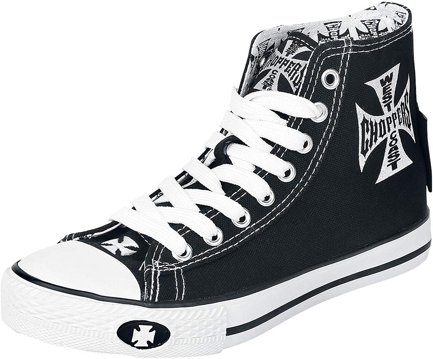 West Coast Choppers Iron Cross Sneakers High Black-White