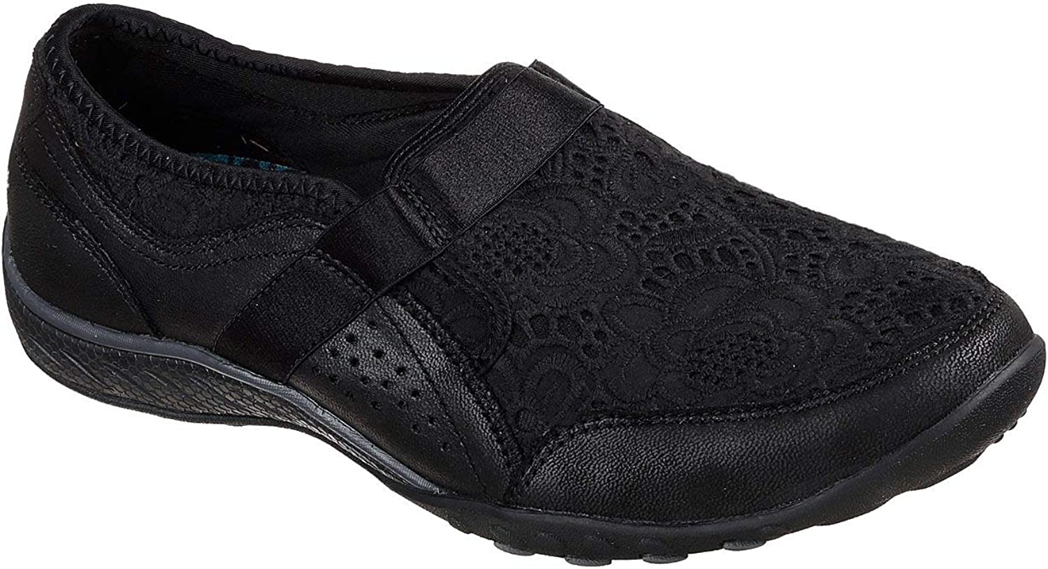 Skechers Relaxed Fit Breathe Easy Thankful Womens Slip On Sneakers