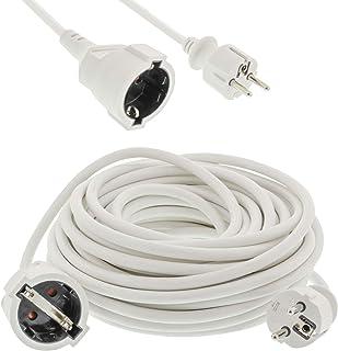 TronicXL Profi Verlängerungskabel Strom Verlängerung Kabel 10m 10 Meter weiß