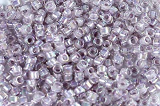 11/0 TOHO Treasures Japanese Glass Seed Beads #786- Rainbow Crystal/Pale Lavender 5g