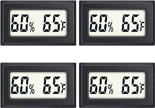 UniShop 4pcs Mini Digital Humidity Temperature Meters Gauge (BATTERY NOT INCLUDE) Indoor Hygrometer Thermometer LCD Displa...