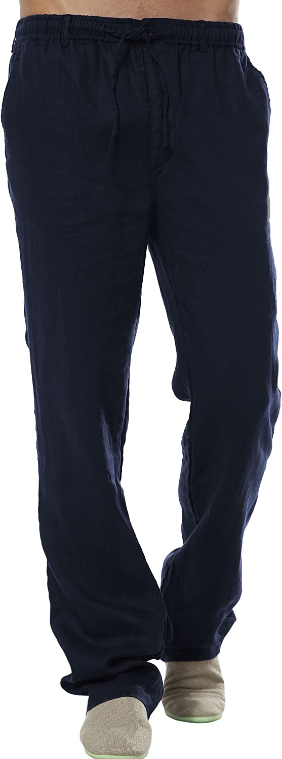 utcoco Max 78% OFF Men's Special price for a limited time Mid Waist Straight Thin Pants Leg Linen
