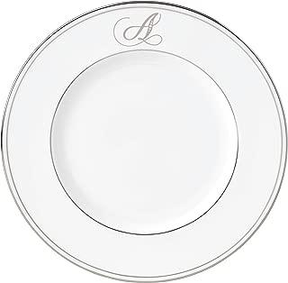 Lenox Federal Platinum Script Monogram Dinnerware Accent Plate, A