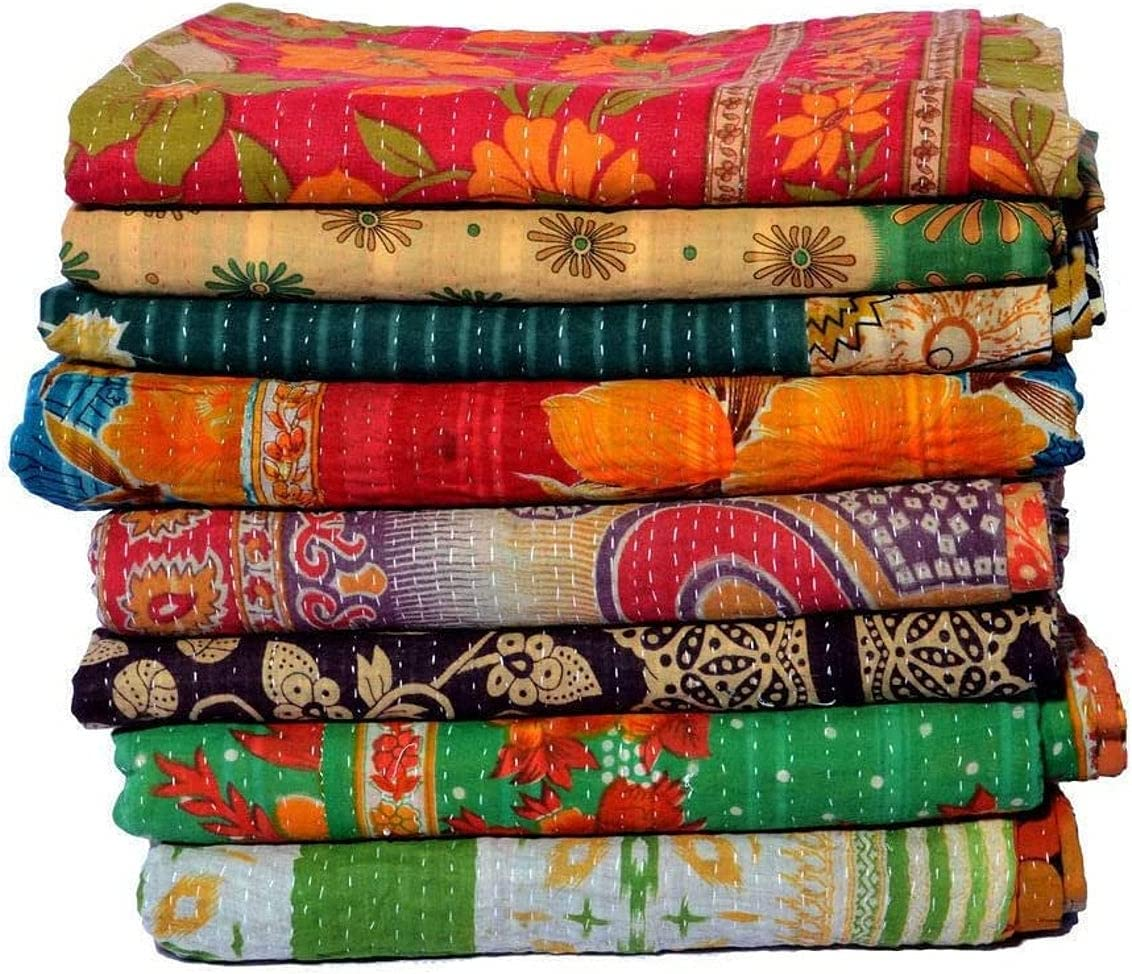 Wholesale Lot Popular shop is the lowest price challenge of Indian 25% OFF Vintage Quilt Kantha Handmade Throw Reve