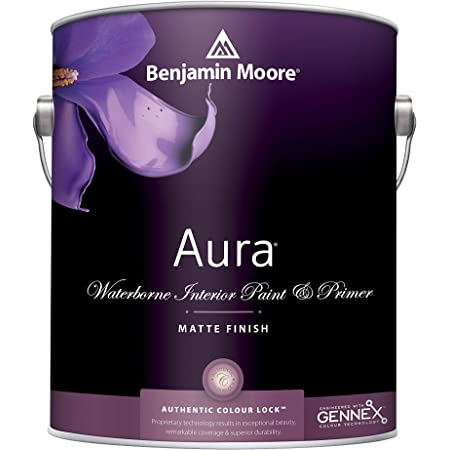 1G Benjamin Moore, WHITES, Aura Waterborne Interior Paint - Matte - White Dove