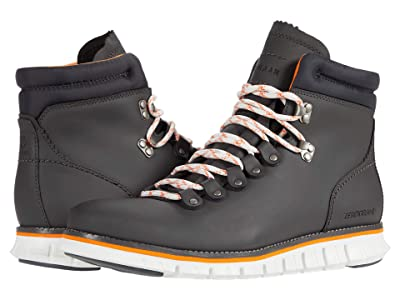 Cole Haan Zerogrand Hiker WP (Gray Pinstripe Waterproof Leather/Vibrant Orange Welt/Ivory) Men