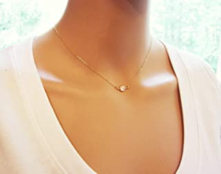 Gold Tiny Sparkling CZ Choker Necklace - 14k Gold Fill Dainty Everyday Jewelry - Diamond Alternative Gift For Her