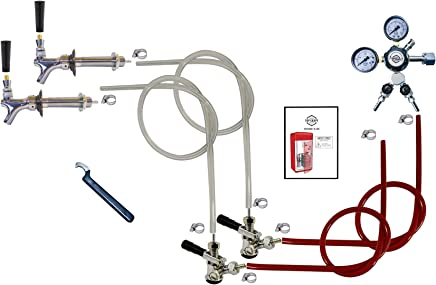 Kegco Double Faucet Door Mount Kegerator Conversion Kit No Tank - SCK2-T742-2_NT
