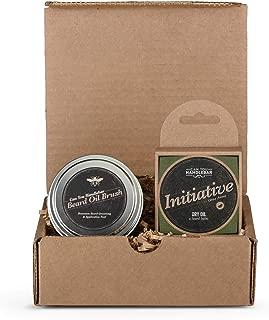 Beard Kit for Men - Initiative Citrus Lavender Aroma – Men's Beard Balm Set Includes The Can You Handlebar Beard Oil Brush® (Beard Balm Applicator Brush) and Beard Balm (Dry Oil)   Made in The USA
