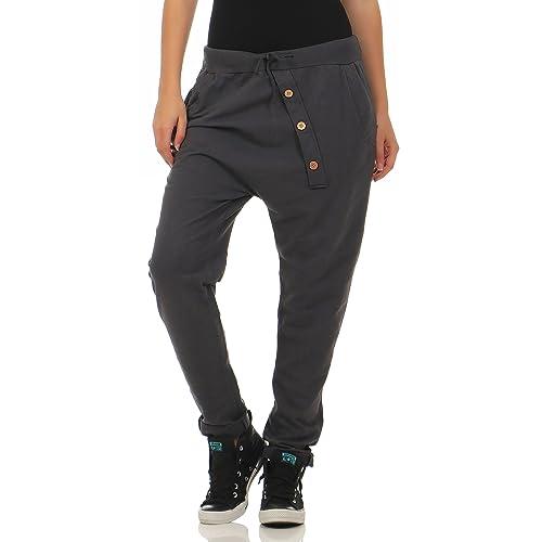 Malito Urban Pantaloni Aladin Sbuffo Pantaloni Pump Baggy Yoga 3302 Donna Taglia Unica