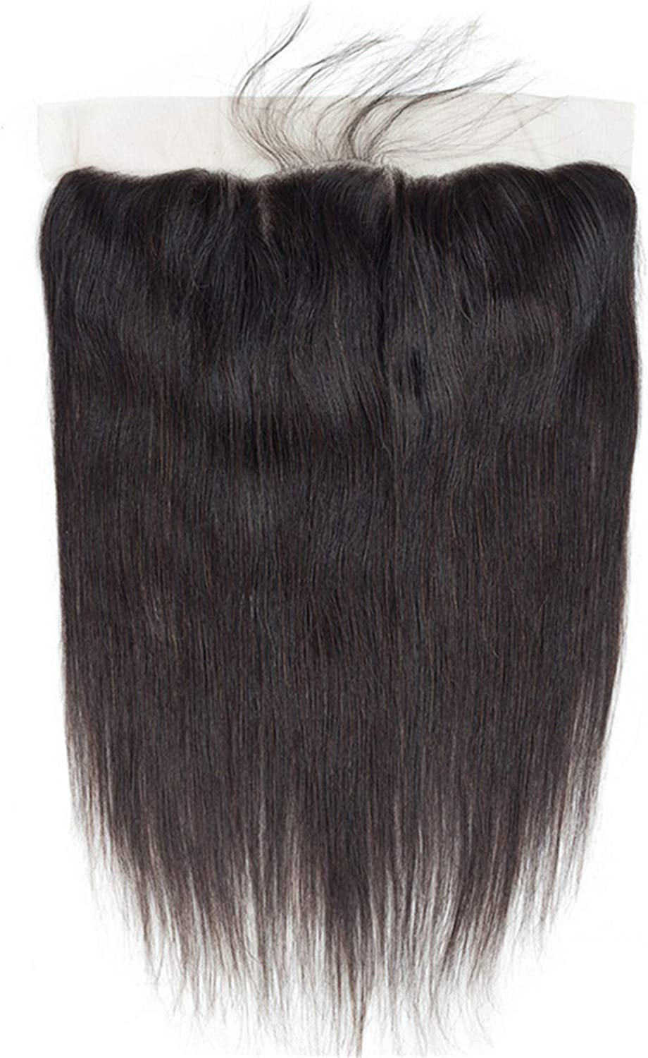 Anhon Straight Hair 13  4 Lace Frontal Closure With Baby Hair 100% Human Hair Free Middle Three Part Lace Closure,16Inches,Middle Part