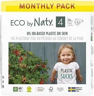 Eco by Naty 8178389 Luiers, Maat 4 (7-18 kg), 156 stuks