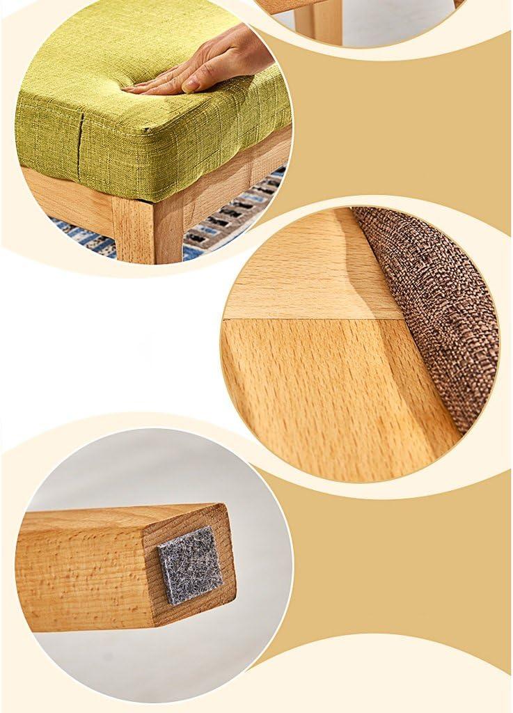 SLL- Banc nordique à manger chaise tabouret simple en bois massif tabouret à la maison Fauteuils et Chaises (Color : B) A