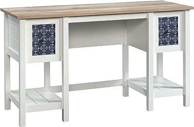 Sauder Cottage Road Desk, Soft White finish